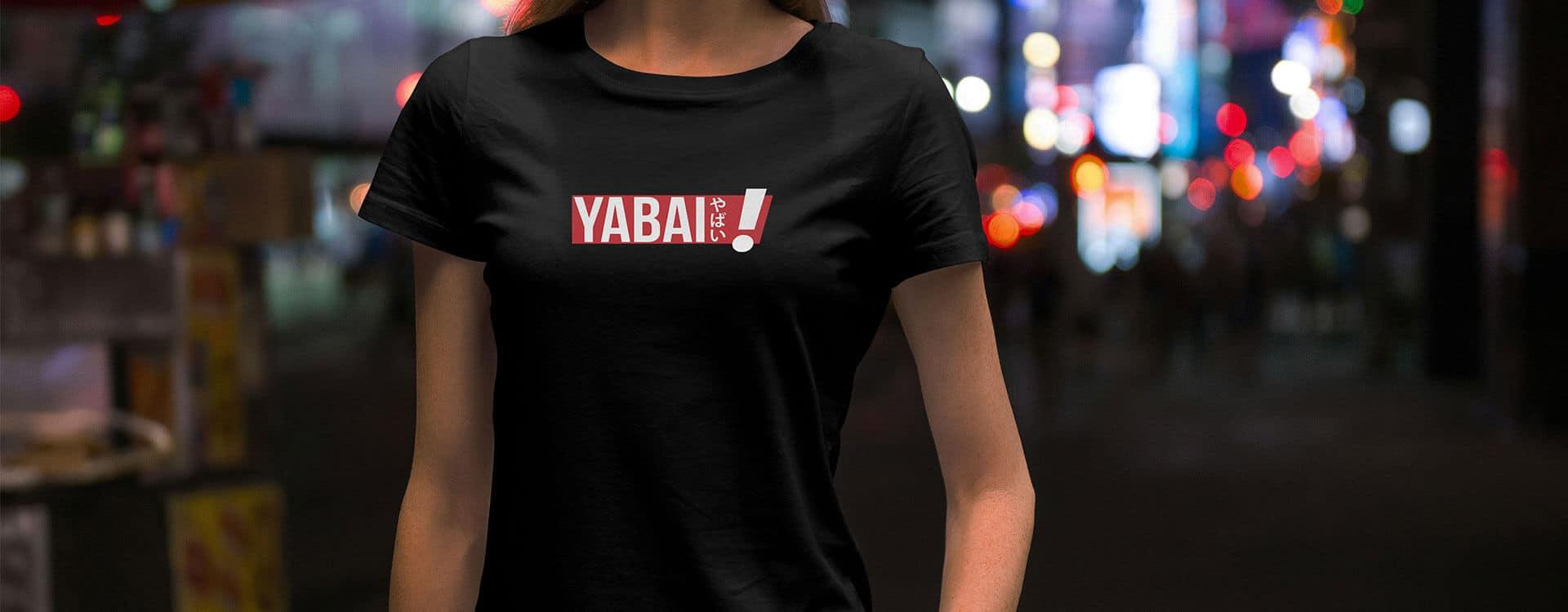 Yabai T-Shirt schwarz